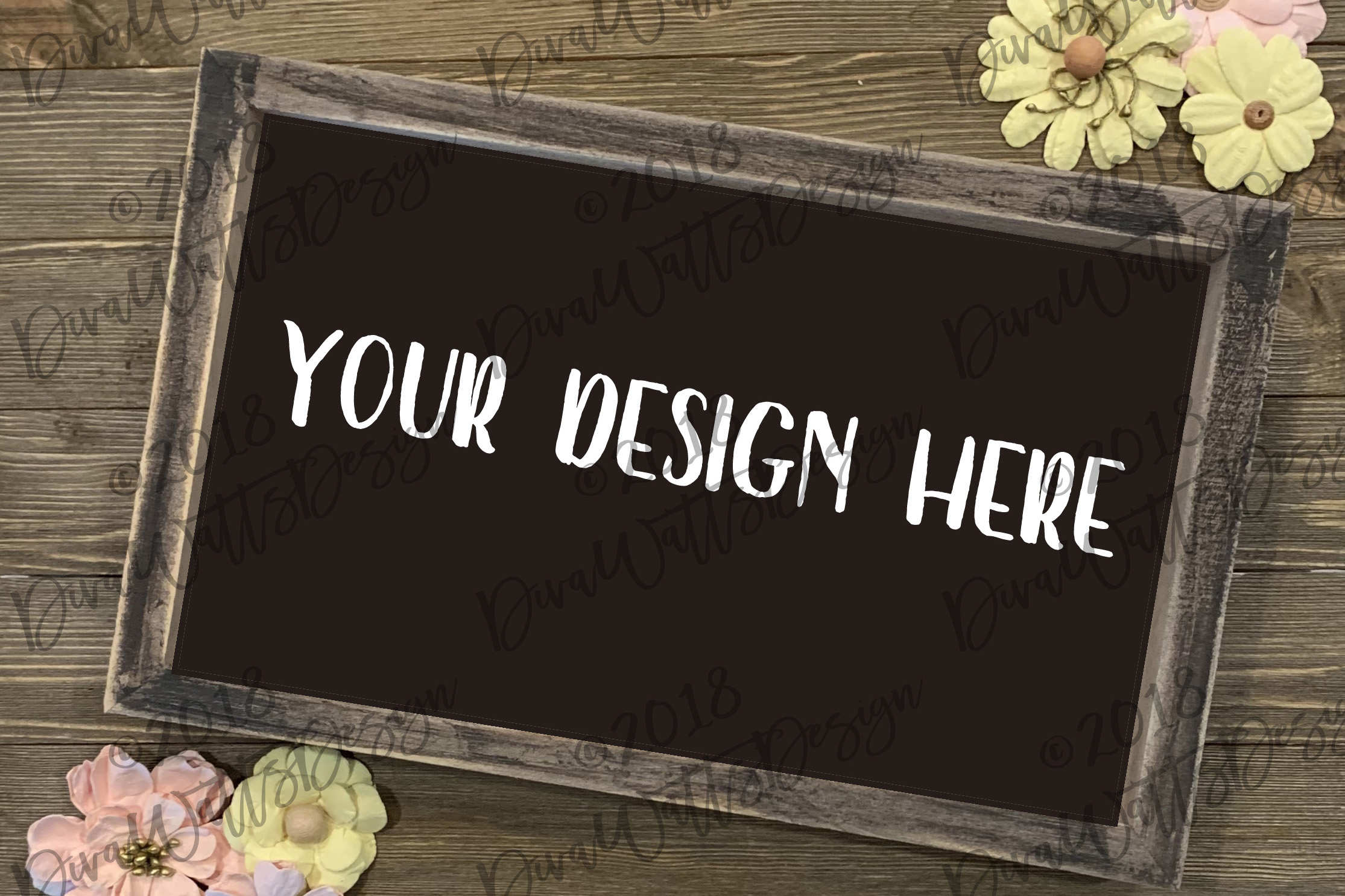 Download Free Mock Up Farmhouse Sign Graphic By Diva Watts Designs Creative for Cricut Explore, Silhouette and other cutting machines.