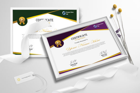 Download Free Modern Certificate Graphic By Creativesya Creative Fabrica for Cricut Explore, Silhouette and other cutting machines.