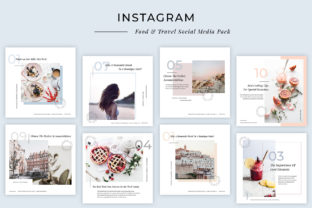 Modern Food & Travel Instagram Post Templates Graphic By SilverStag