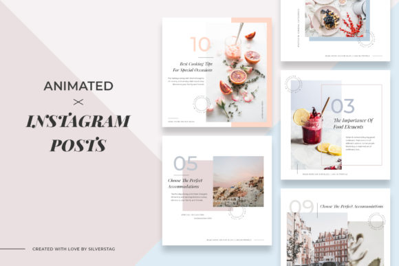 Print on Demand: Modern Instagram Post Templates Graphic Websites By SilverStag