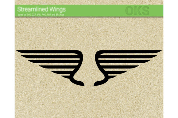 Download Free Modern Streamlined Wing Svg Vector Graphic By Crafteroks for Cricut Explore, Silhouette and other cutting machines.