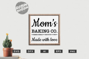 Download Free Mom S Baking Co Made With Love Kitchen Svg File Graphic By for Cricut Explore, Silhouette and other cutting machines.