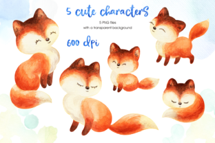 Print on Demand: Mom's Tenderness. Watercolor Foxes and B Graphic Illustrations By Olga Belova 2