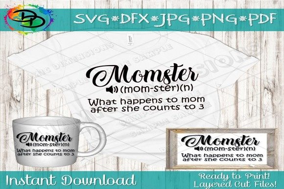 Download Free Momster Svg Mom Svg Mothers Day Mom Graphic By for Cricut Explore, Silhouette and other cutting machines.