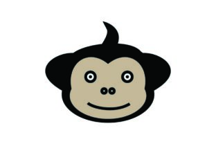 Download Free Monkey Icon Monkey Illustration Vecto Graphic By Hoeda80 for Cricut Explore, Silhouette and other cutting machines.