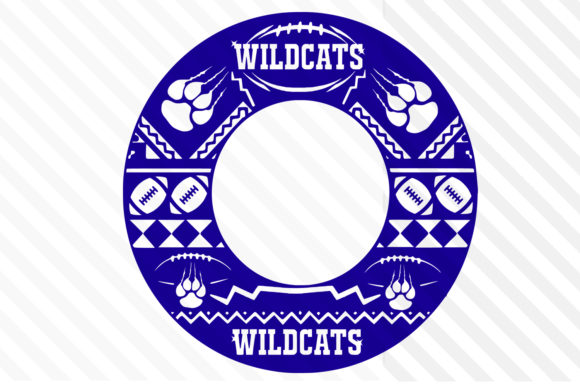 Download Free Monogram Circle And Logo Wildcats Svg Graphic By Johanruartist for Cricut Explore, Silhouette and other cutting machines.