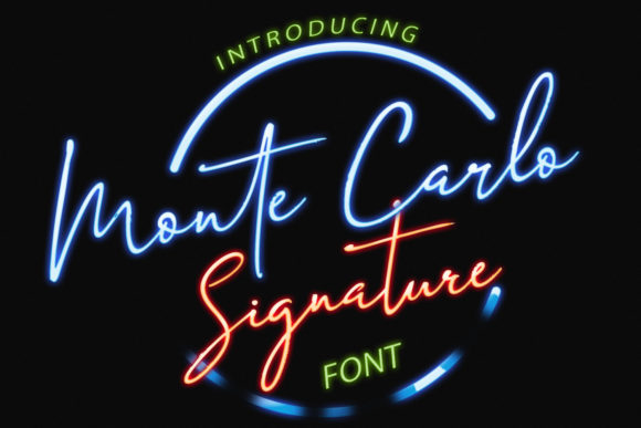 Print on Demand: Monte Carlo Script & Handwritten Font By ayeelastudio