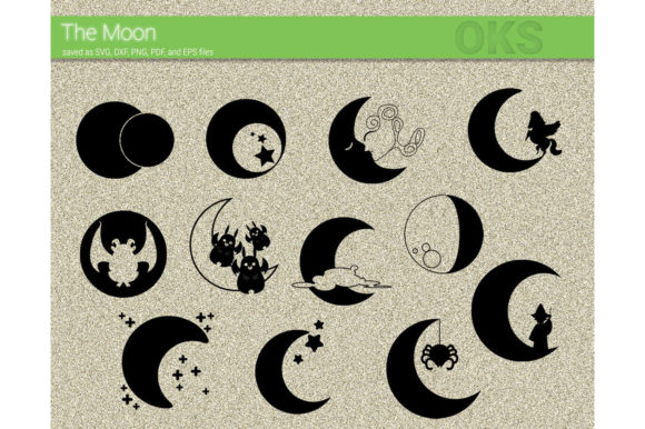 Print on Demand: Moon Vector Clipart Graphic Crafts By CrafterOks