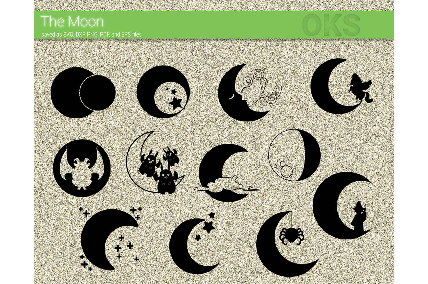 Download Free Moon Vector Clipart Graphic By Crafteroks Creative Fabrica for Cricut Explore, Silhouette and other cutting machines.