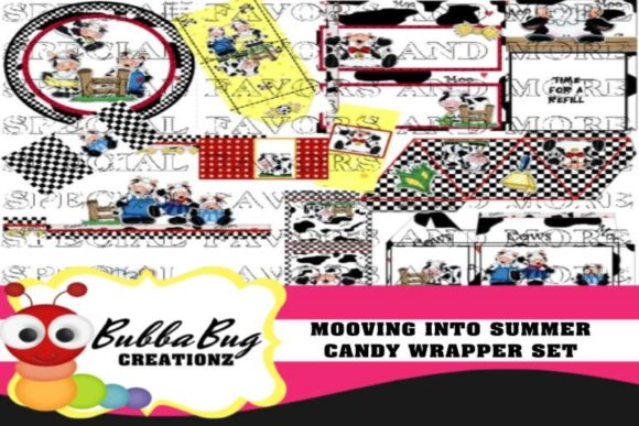 Mooving into Summer Candy Wrapper Set Graphic Crafts By BUBBABUG
