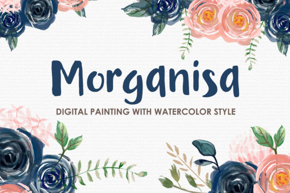 Morganisa Watercolor Floral Clipart Graphic Illustrations By Kagunan Arts