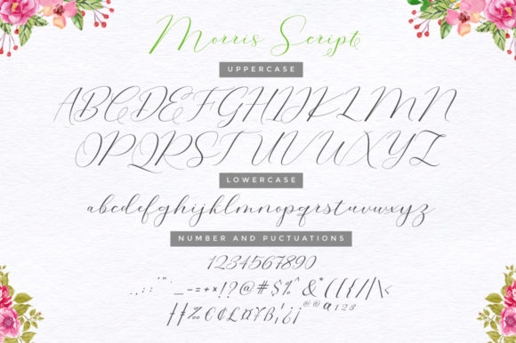 Print on Demand: Morris Duo Script & Handwritten Font By Cooldesignlab - Image 10
