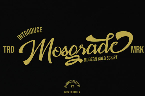 Print on Demand: Mosgrade Script & Handwritten Font By Fallengraphic - Image 1