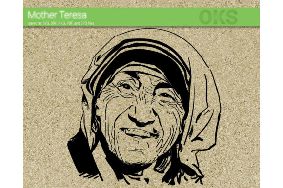 Mother Teresa Svg Vector Graphic By Crafteroks Creative Fabrica