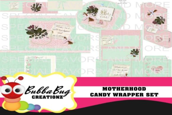 Motherhood Candy Wrapper Set Graphic Crafts By BUBBABUG