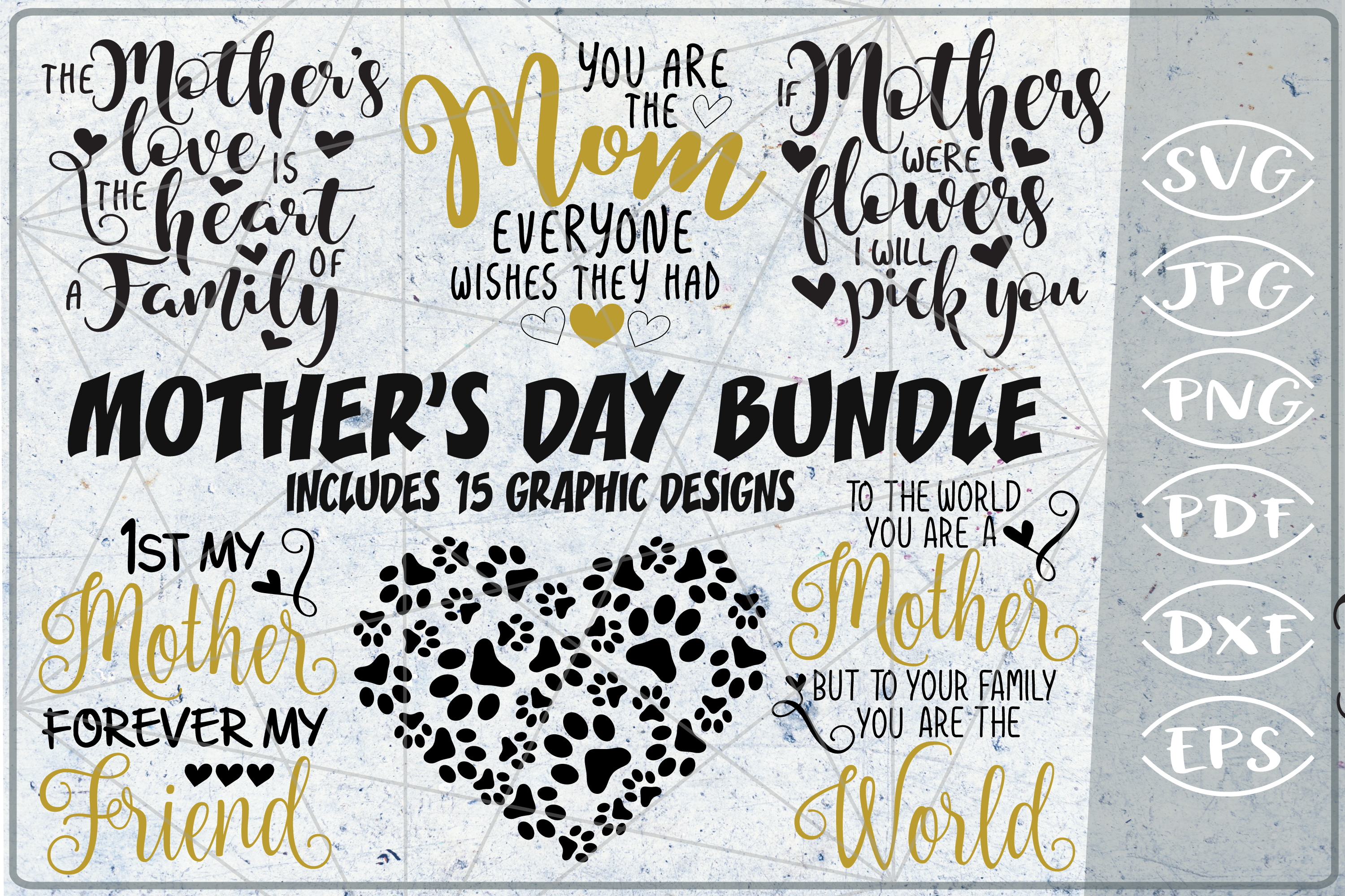 Mother S Day Bundle 15 Graphic By Cute Graphic Creative Fabrica
