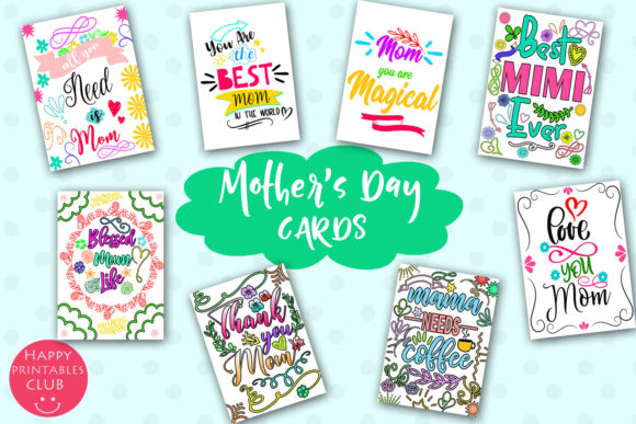Print on Demand: Mother's Day Cards for Moms Graphic Illustrations By Happy Printables Club