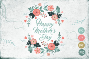 Mother's Day Flower Wreath Design Graphic By Gleenart Graphic Design