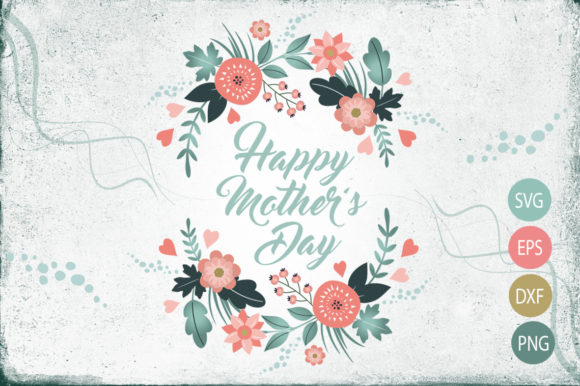 Mother's Day Flower Wreath Design Graphic Illustrations By Gleenart Graphic Design
