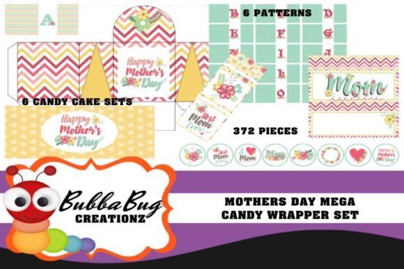 Mothers Day Mega Candy Wrapper Set Graphic Crafts By BUBBABUG
