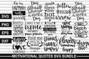Download Free Motivational Quotes Bundle Graphic By Svgmaker Creative Fabrica for Cricut Explore, Silhouette and other cutting machines.