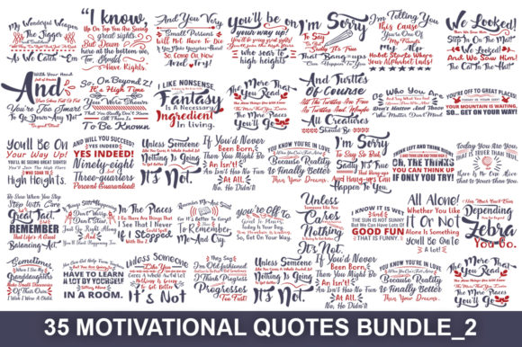 Motivational Quotes Svg Big Bundle Graphic Print Templates By Graphicsqueen - Image 2