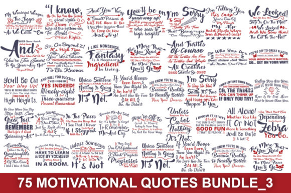 Motivational Quotes Svg Big Bundle Graphic Print Templates By Graphicsqueen