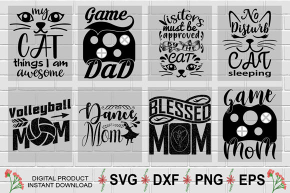 Download Free Motivational T Shirt Design Bundle Graphic By Aesthetic Studio for Cricut Explore, Silhouette and other cutting machines.