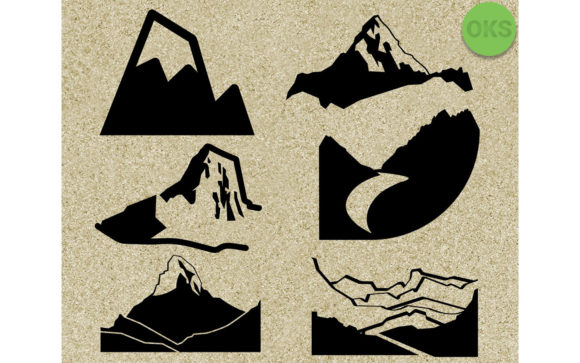 Download Free Mountain Bundle Vector Cricut Graphic By Crafteroks Creative for Cricut Explore, Silhouette and other cutting machines.
