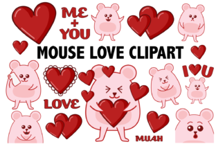 Mouse Love Clipart Graphic By Mine Eyes Design