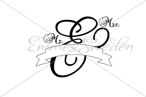 Download Free Mr Mrs Banner Graphic By Emmessweden Creative Fabrica for Cricut Explore, Silhouette and other cutting machines.