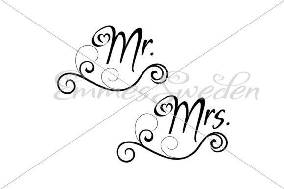 Download Free Mr Mrs Wedding Svg Graphic By Emmessweden Creative Fabrica for Cricut Explore, Silhouette and other cutting machines.