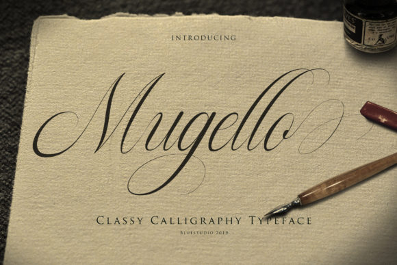 Print on Demand: Mugello Script & Handwritten Font By Bluestudio