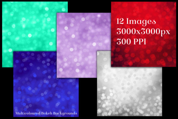 Print on Demand: Multicoloured Bokeh Backgrounds Graphic Backgrounds By SapphireXDesigns - Image 2