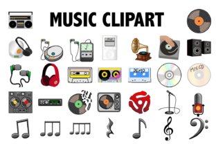 Music Clipart Graphic By Mine Eyes Design