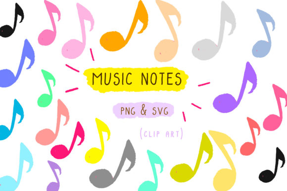Print on Demand: Music Notes Clip Art, Musical Sound Graphic Icons By Inkclouddesign