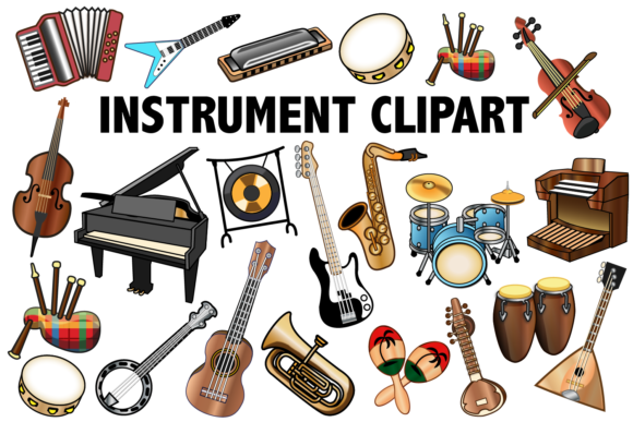Download Free Musical Instrument Clipart Grafik Von Mine Eyes Design for Cricut Explore, Silhouette and other cutting machines.