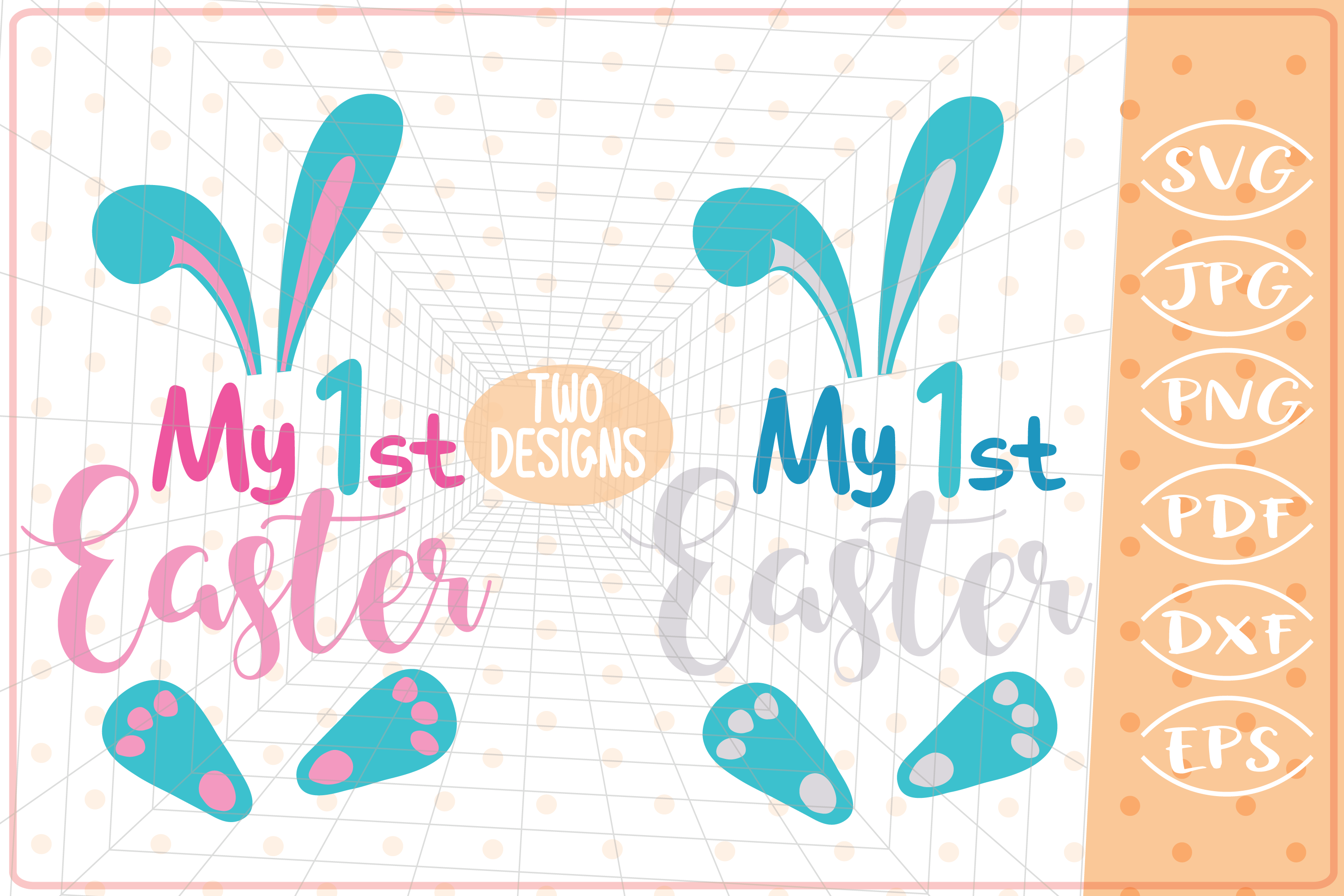 Download Free My First Easter 2 Designs Girl Boy Graphic By Cute Graphic for Cricut Explore, Silhouette and other cutting machines.
