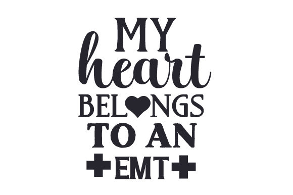 My Heart Belongs to an EMT Medical Craft Cut File By Creative Fabrica Crafts