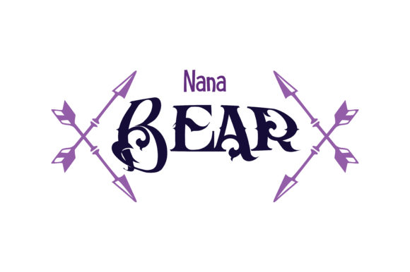 Download Free Nana Bear Quote Svg Cut Graphic By Thelucky Creative Fabrica for Cricut Explore, Silhouette and other cutting machines.