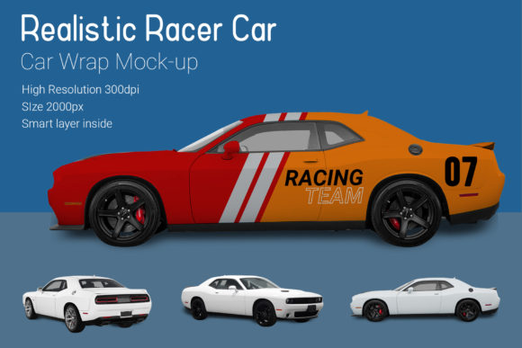 Nascar Racer Car Mock-Up Graphic By gumacreative