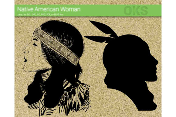 Download Free Native American Woman Svg Vector Graphic By Crafteroks for Cricut Explore, Silhouette and other cutting machines.