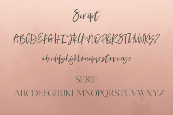 Print on Demand: Nature of Beauty Duo Script & Handwritten Font By lyanatha - Image 6