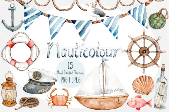 Nauticolour | Watercolour Clip Art Set Graphic By Jen Digital Art