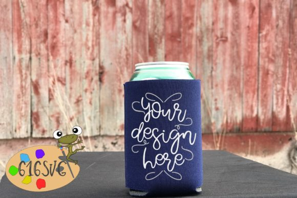 Navy Blue Can Cooler Mockup Graphic Product Mockups By 616SVG - Image 1
