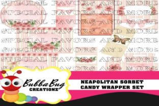 Neapolitan Sorbet Candy Wrapper Set Graphic Crafts By BUBBABUG