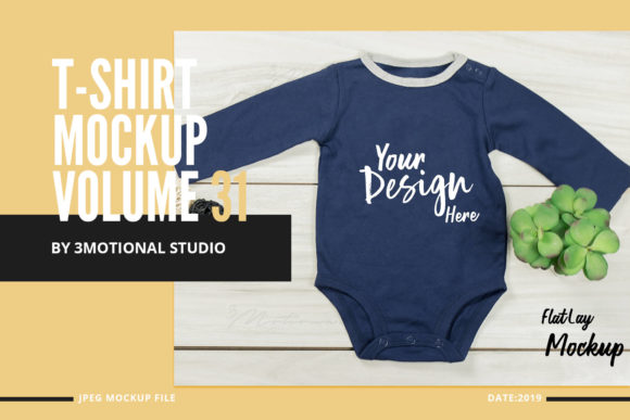 Neo Baby T-Shirt Mockup Volume 31 Graphic By 3Motional