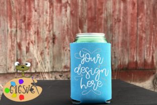 Neon Blue Can Cooler Mockup Graphic Product Mockups By 616SVG