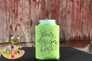 Neon Green Can Cooler Mockup Graphic Product Mockups By 616SVG