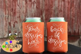 Neon Orange Can Cooler Mockup Graphic Product Mockups By 616SVG
